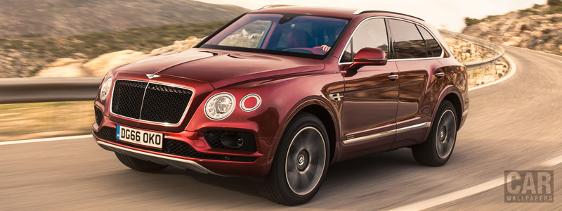Cars wallpapers Bentley Bentayga Diesel (Rubino Red) - 2016 - Car wallpapers
