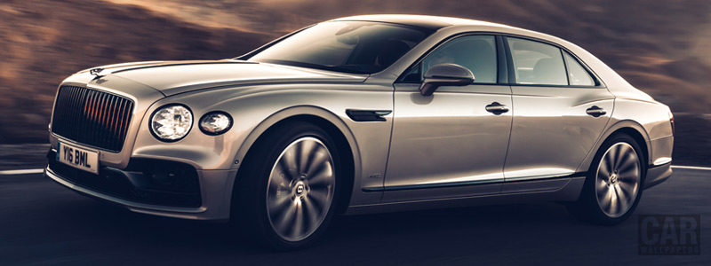 Cars wallpapers Bentley Flying Spur Blackline (White Sand) - 2019 - Car wallpapers